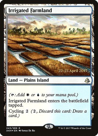 Irrigated Farmland [Amonkhet Promos] | The Guild in the Grove