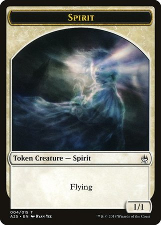Spirit Token (004) [Masters 25 Tokens] | The Guild in the Grove
