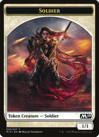 Soldier Token [Core Set 2019 Tokens] | The Guild in the Grove