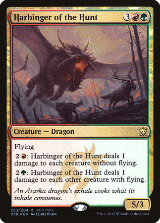 Harbinger of the Hunt [Dragons of Tarkir Promos] | The Guild in the Grove
