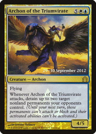 Archon of the Triumvirate [Return to Ravnica Promos] | The Guild in the Grove