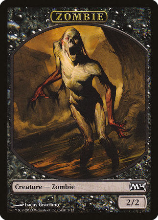 Zombie Token [Magic 2014 Tokens] | The Guild in the Grove