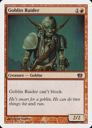 Goblin Raider [Eighth Edition] | The Guild in the Grove