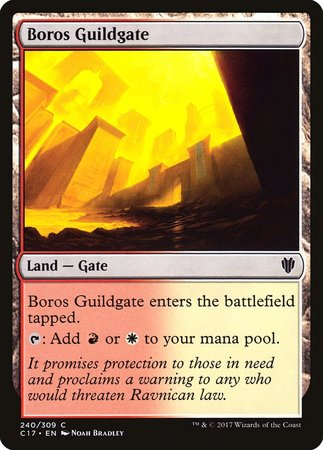 Boros Guildgate [Commander 2017] | The Guild in the Grove