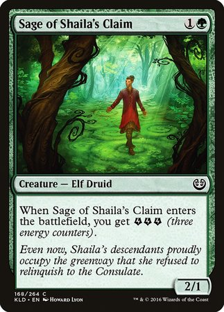 Sage of Shaila's Claim [Kaladesh] | The Guild in the Grove