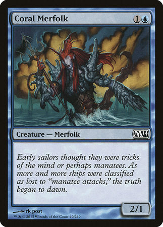 Coral Merfolk [Magic 2014] | The Guild in the Grove