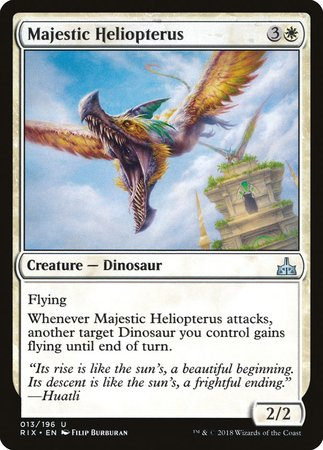 Majestic Heliopterus [Rivals of Ixalan] | The Guild in the Grove