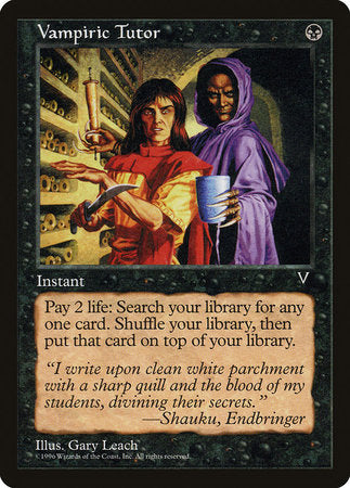 Vampiric Tutor [Visions] | The Guild in the Grove
