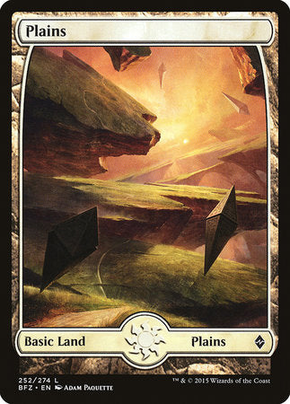 Plains (252) - Full Art [Battle for Zendikar] | The Guild in the Grove