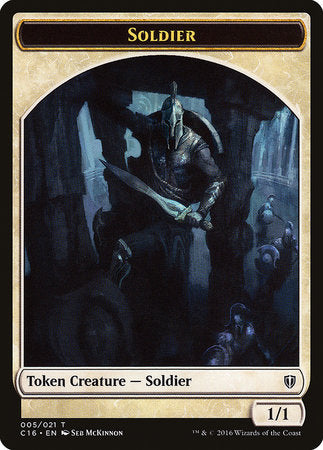 Soldier // Squid Double-sided Token [Commander 2016 Tokens] | The Guild in the Grove