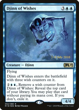Djinn of Wishes [Core Set 2019 Promos] | The Guild in the Grove