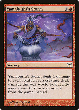 Yamabushi's Storm [Champions of Kamigawa] | The Guild in the Grove