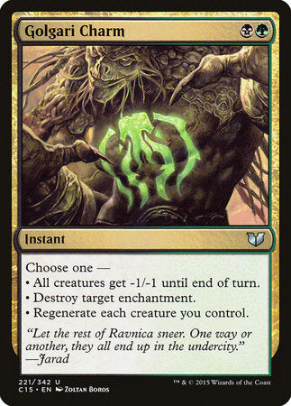 Golgari Charm [Commander 2015] | The Guild in the Grove