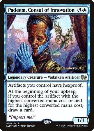 Padeem, Consul of Innovation [Kaladesh Promos] | The Guild in the Grove