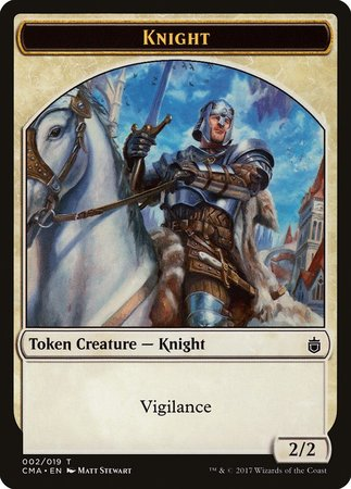 Knight Token (002) [Commander Anthology Tokens] | The Guild in the Grove