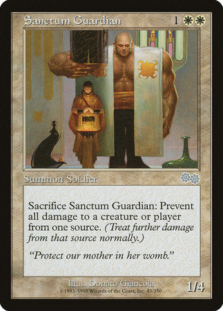 Sanctum Guardian [Urza's Saga] | The Guild in the Grove