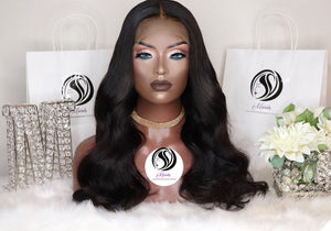 Transparent Lace Frontal Wig 13x4 180% Densi