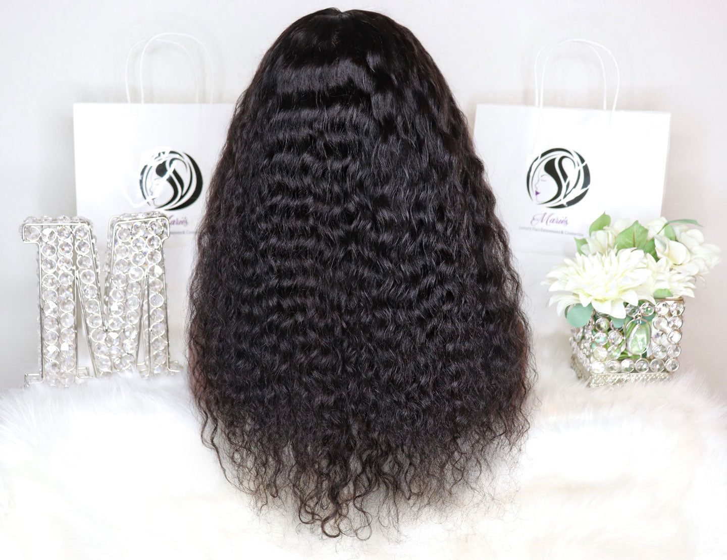 Deep Curly Transparent Full Lace Wig 180% Density