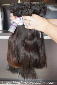 Raw Indian Straight Weft Hair Extensions