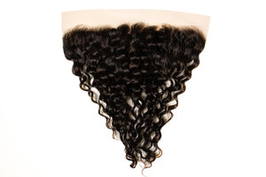 Transparent Deep Curly Frontal