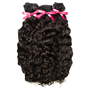Raw Indian Curly Weft Extensions