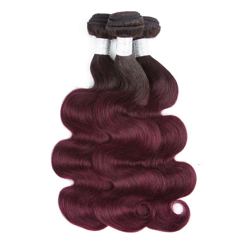 1B/Burgundy Body Wave Bundle