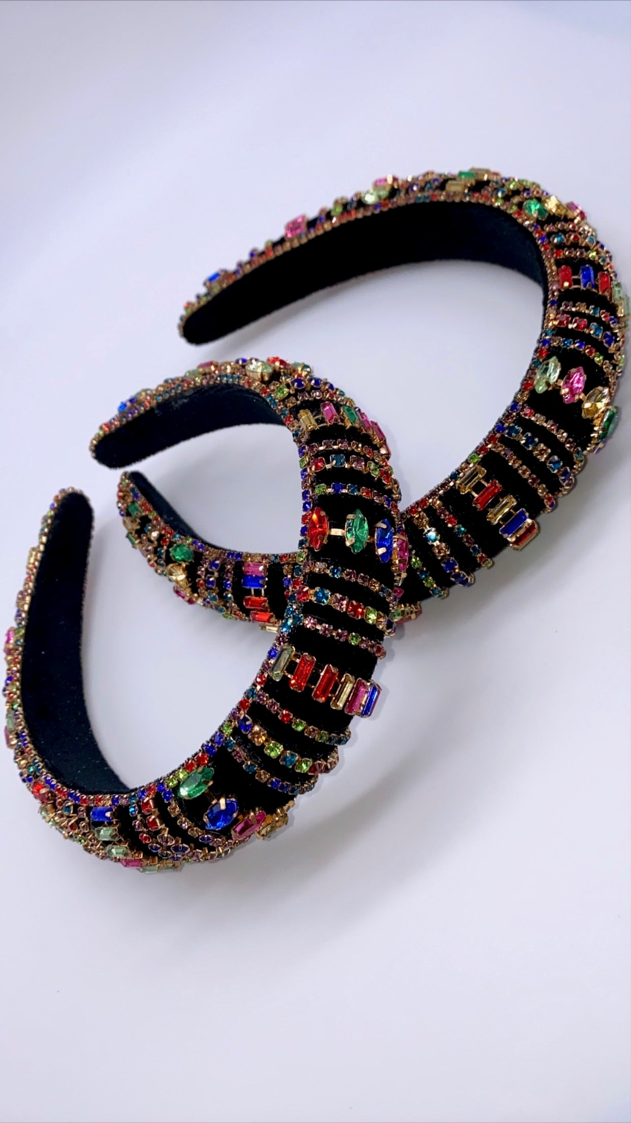 Black Gem Stone Head Band