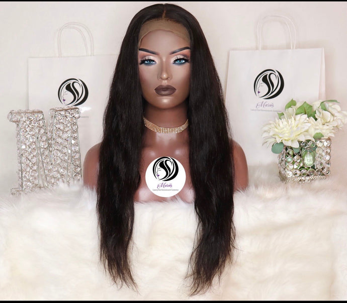 Straight Transparent Lace Frontal Wig 13x6 180% Density