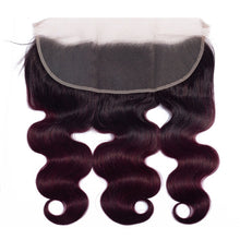Load image into Gallery viewer, 1B/99J Body Wave Deep Plum 13x4 Frontal