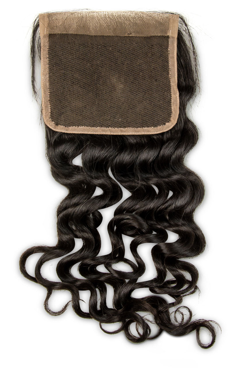 Swiss Lace Natural Curly Closure 5x5