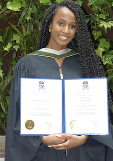 Keesa graduating from Nipissing University