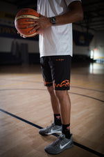 Load image into Gallery viewer, LTG Basketball Shorts - Black & Orange
