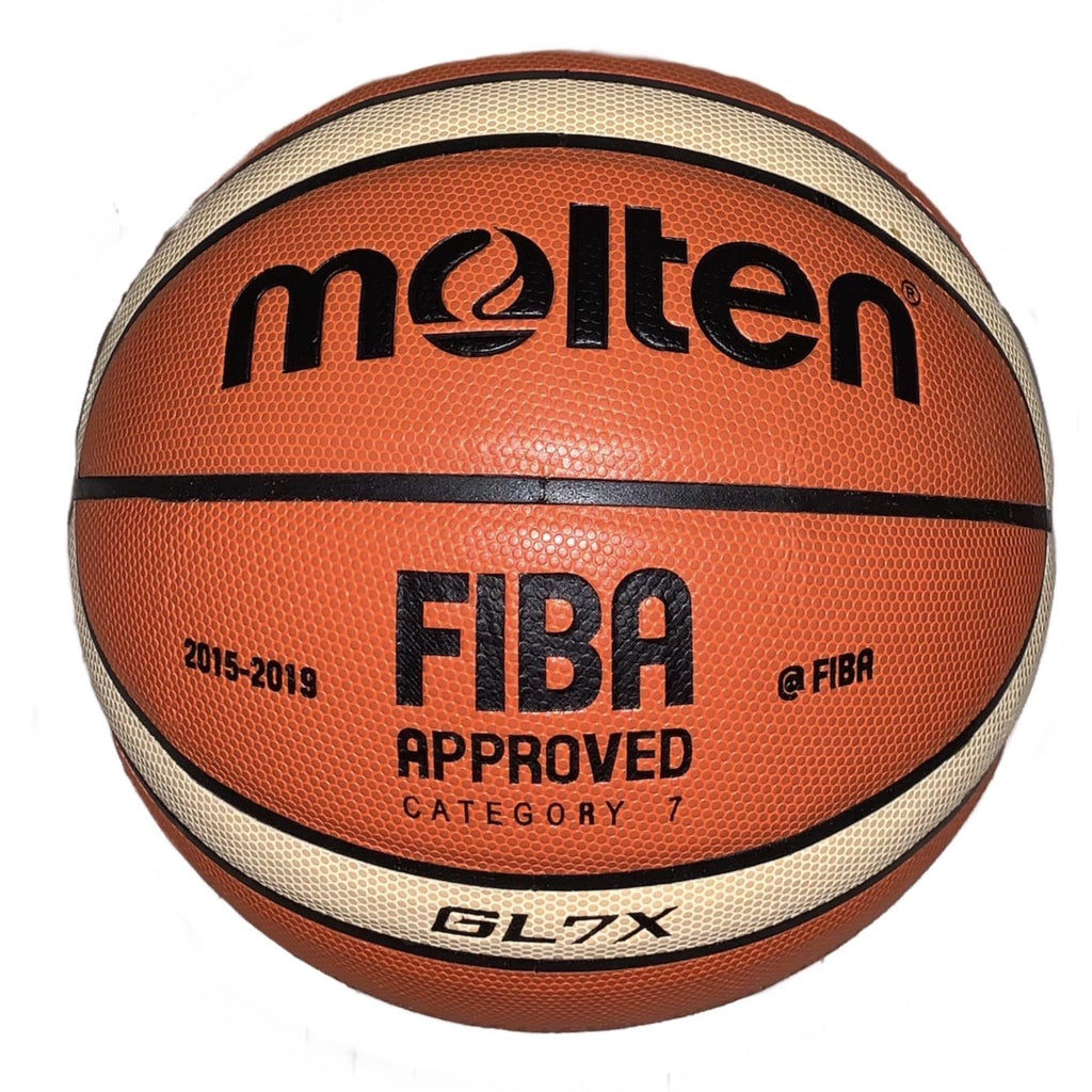 Molten FIBA basketball. GL7X size shown