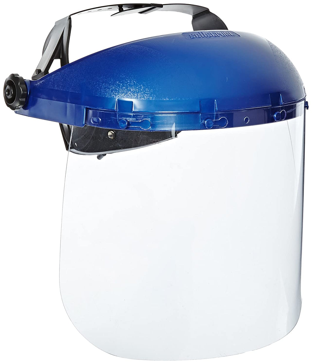 Sellstrom 39110 Blue Plastic Crown and Clear Window Protective Faceshield