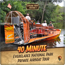 Load image into Gallery viewer, Everglades National Park Private Airboat Tour - 40 Minute