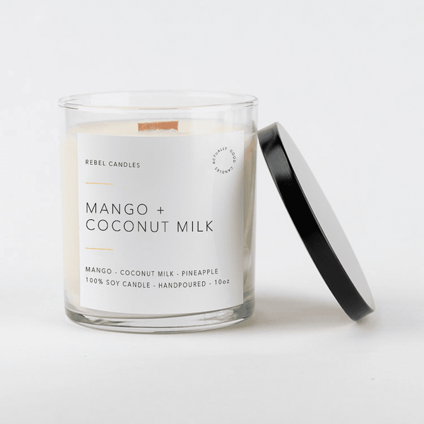 MANGO + COCONUT MILK Soy Candle - Rebel Candles
