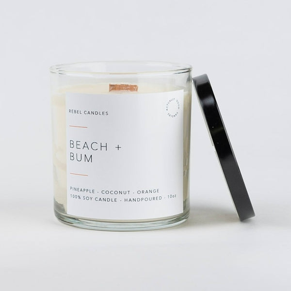 BEACH + BUM Soy Candle - Rebel Candles