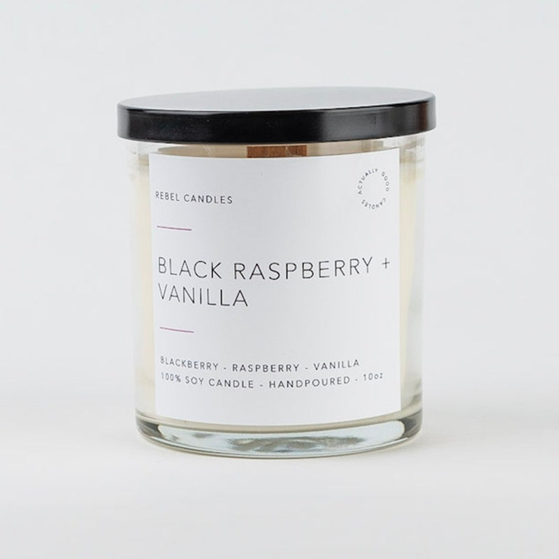 BLACK RASPBERRY + VANILLA Soy Candle - Rebel Candles
