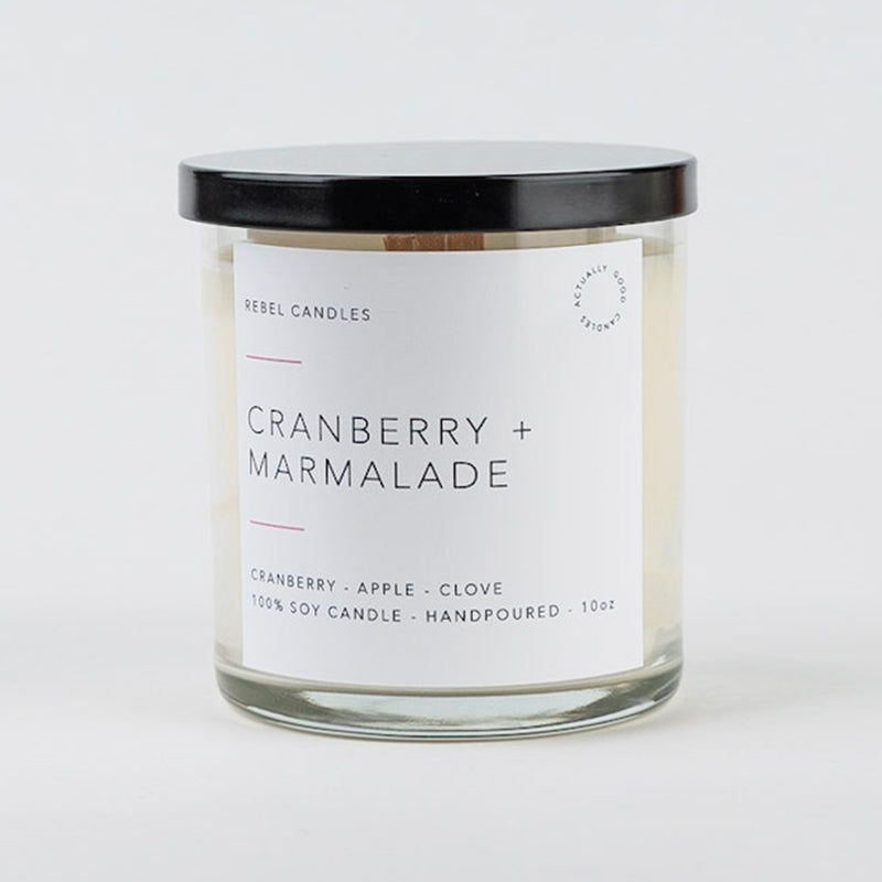 CRANBERRY + MARMALADE Soy Candle - Rebel Candles