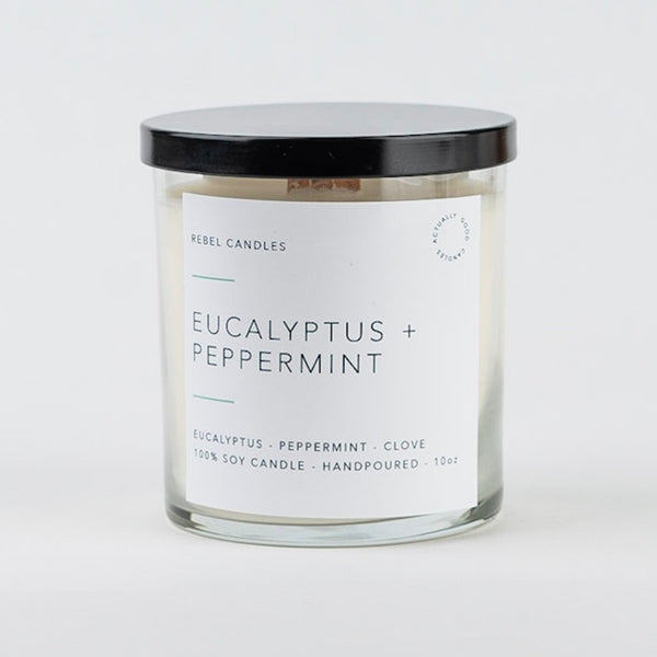 EUCALYPTUS + PEPPERMINT Soy Candle - Rebel Candles