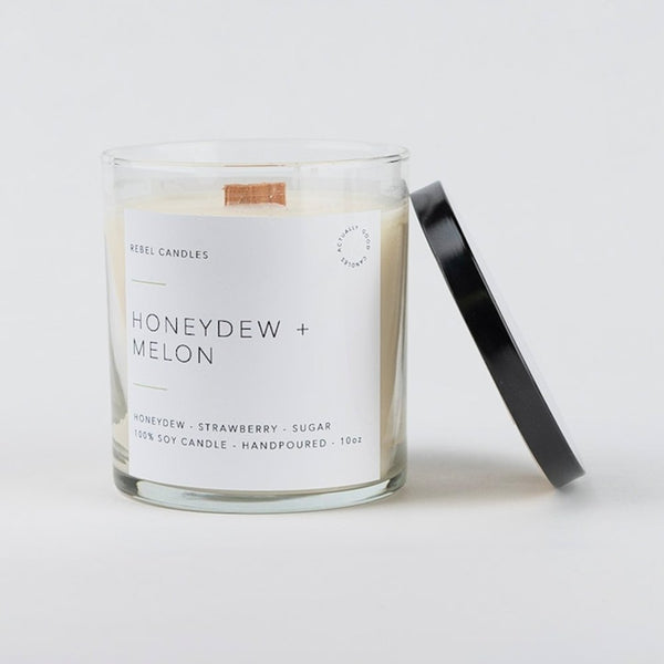 HONEYDEW + MELON Soy Candle - Rebel Candles