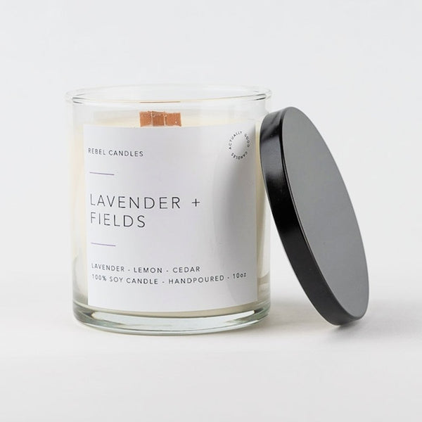 LAVENDER + FIELDS Soy Candle - Rebel Candles