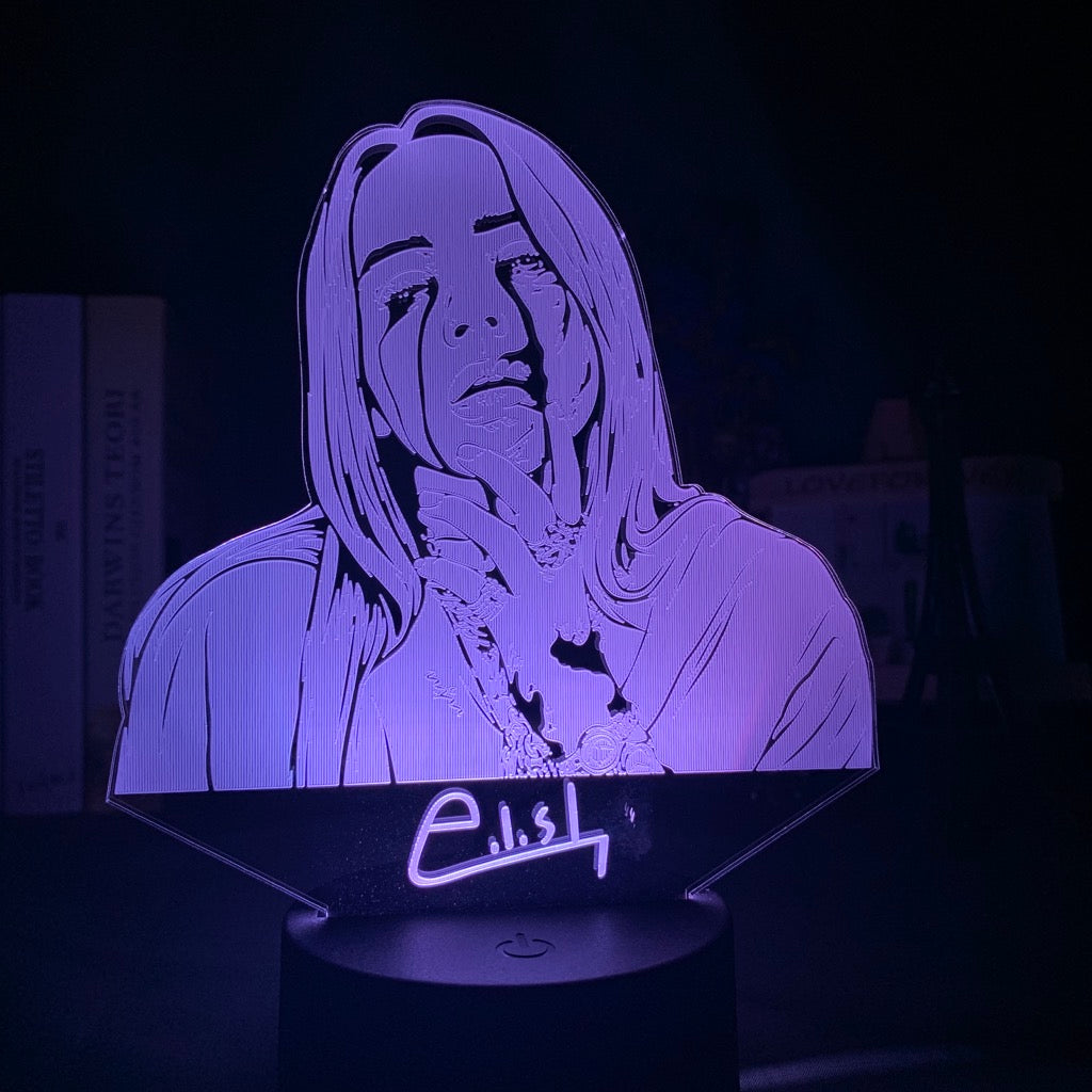 "La Petite Lampe Billie Eilish ""Crying"""