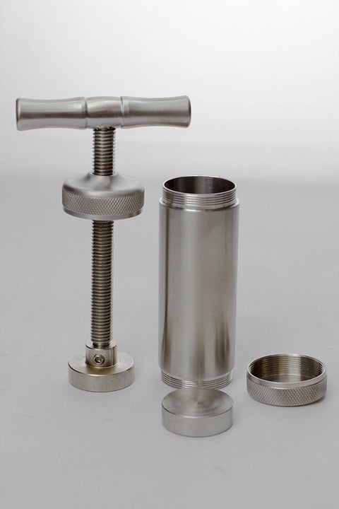 T Handle Metal Alloy Pollen Press Compress - Budder Bongs