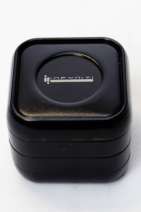 Infyniti 4 parts Black Zinc Grinder w/Storage - Budder Bongs