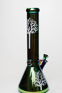"14"" Infyniti Tree of life 7 mm metallic glass water bong"
