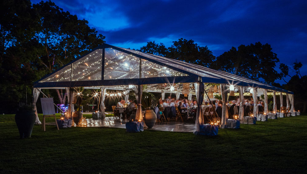 Wedding inspiration night marquee lighting  - the white place lifestyle and events