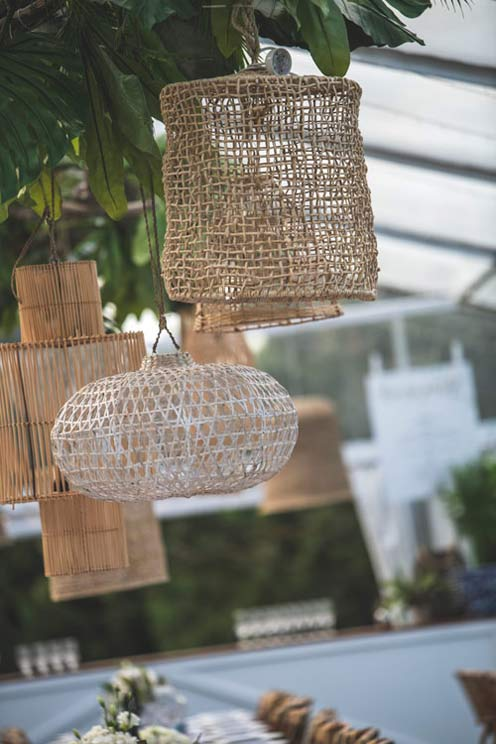 Wedding inspiration Woven pendant lighting - the white place lifestyle and events