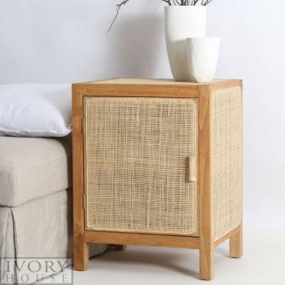 mediterranen markets rattan bedside table
