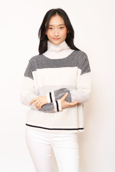 Lunar polo sweater in cream